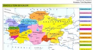 Anadolu Türk Beylikleri Haritası