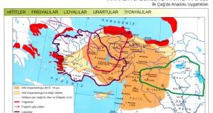 İlkçağ Anadolu Uygarlıkları Haritası