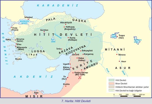 7.Harita-Hitit Devleti
