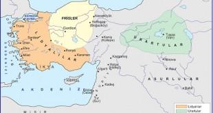 8.Harita-Frigler Lidyalılar Urartular