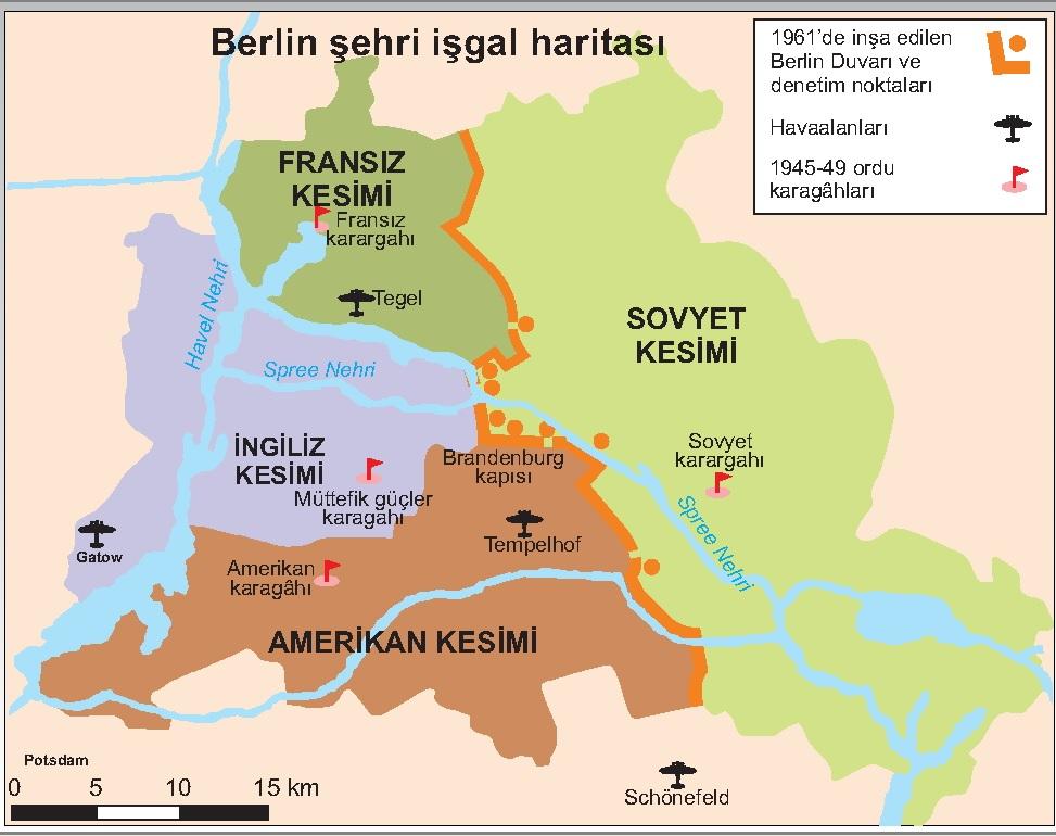 Berlin Şehri İşgali Haritası