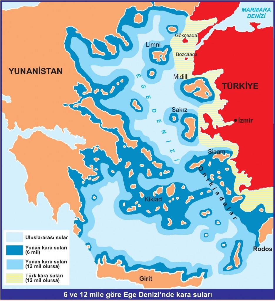 Ege Denizin'de Kara suları