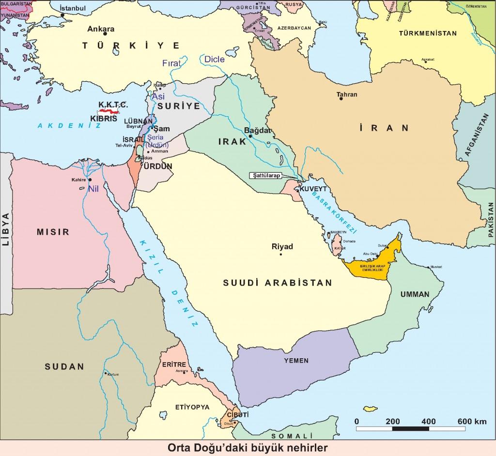 Ortadoğudaki büyük nehirler