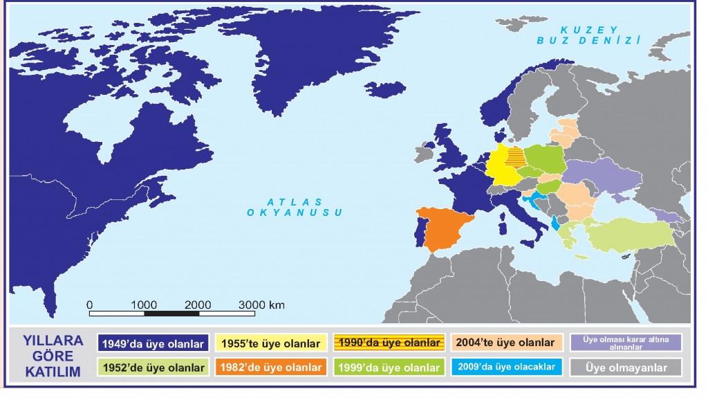 Yıllara Göre NATO'ya Katılım