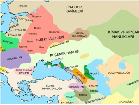 peçenekler harita ile ilgili görsel sonucu