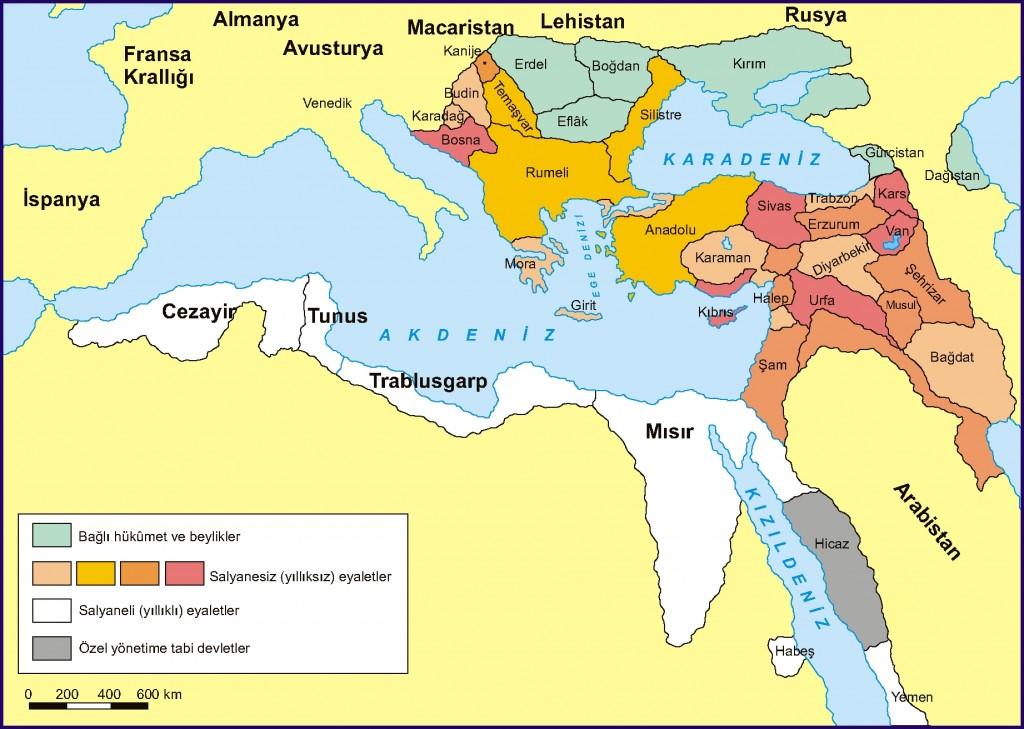 Klasik Dönem OsmanlI Devletinde taşra idari birimleri