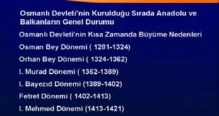 Osmanlı İmp. Kuruluş Dönemi