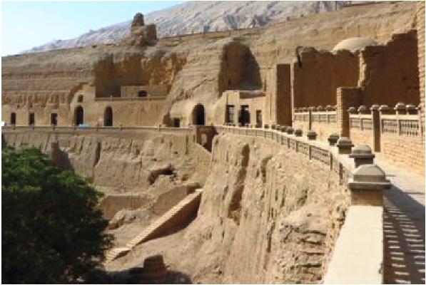 Uygurlardan kalan Kızıl şehrindeki Budist tapınakları